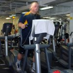 workout on treadmill